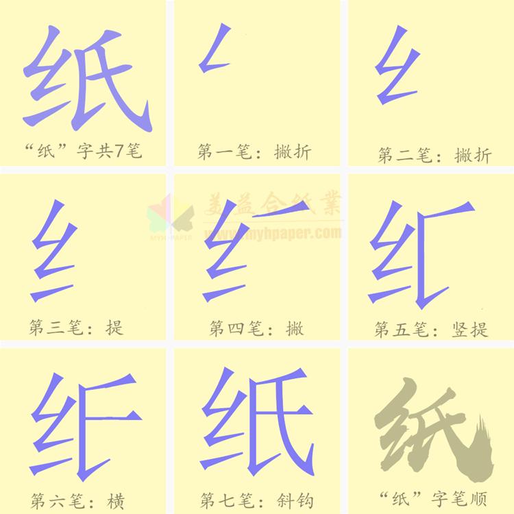 紙的筆順怎么寫